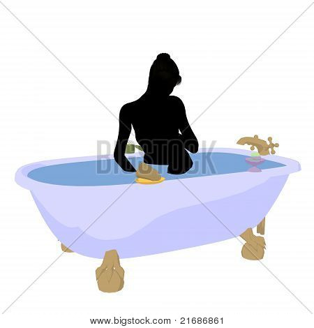 Spa Illustration Silhouette