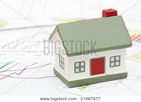 Housing market concept image with graph