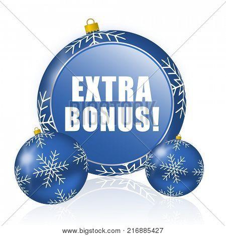 Extra bonus blue christmas balls icon