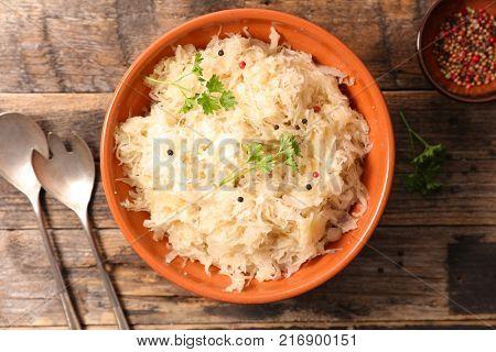 white cabbage, sauerkraut