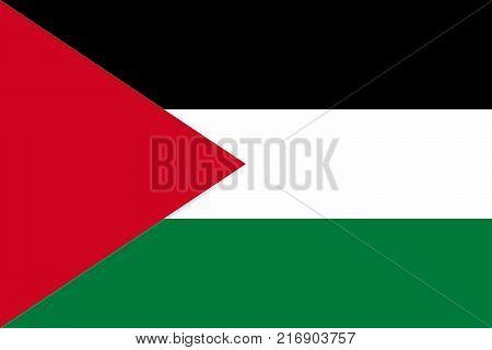 National flag of Palestine. Vector illustration, template