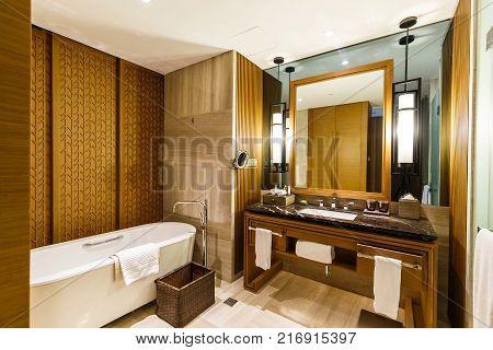 In The Luxurious Bathroom