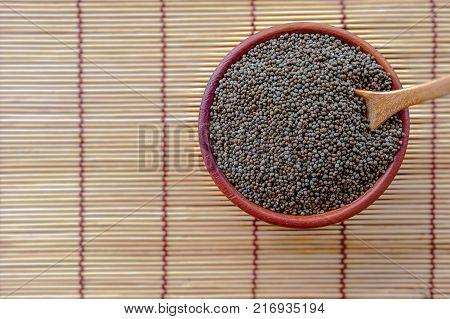 Perilla Frutescens Aldehyde Close Up On Background .