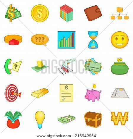 Subsidize icons set. Cartoon set of 25 subsidize vector icons for web isolated on white background