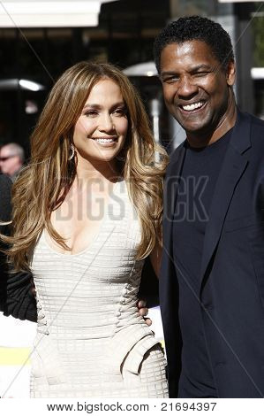 LOS ANGELES - NOV 30: Jennifer Lopez, Denzel Washington as Jennifer Lopez is the new national spokesperson for Boys & Girls Clubs of America at LA Live in Los Angeles, CA on November 30, 2010.