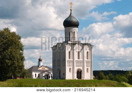 Church of Intercession on the Nerl. Bogolubovo, Vladimir. Gold ring of Russia.