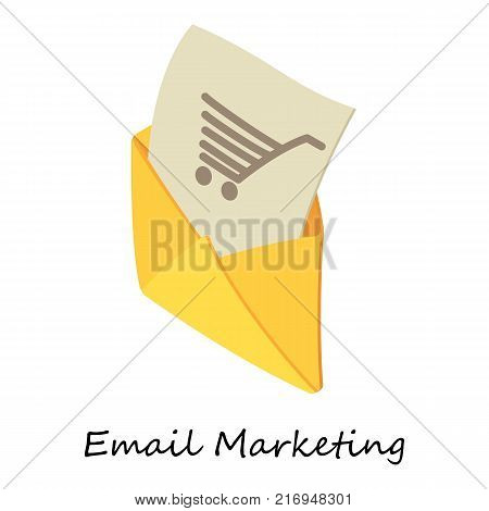 Email marketing icon. Isometric illustration of email marketing vector icon for web