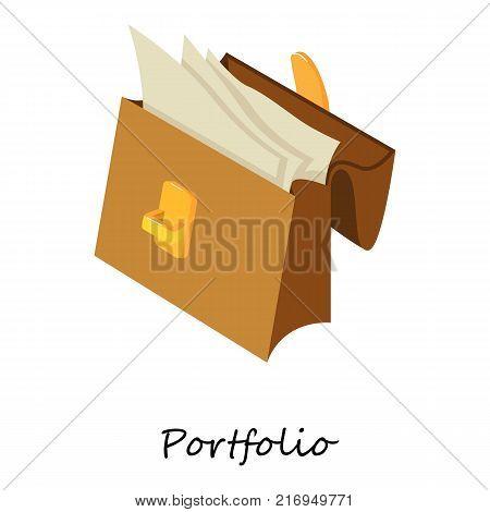 Portfolio icon. Isometric illustration of portfolio vector icon for web