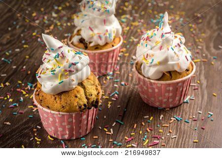 Fresh Delicious Cupcake