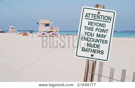 Nude Bathers Ahead
