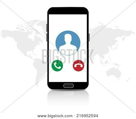IP telephony. Voip voice vector illustration icon