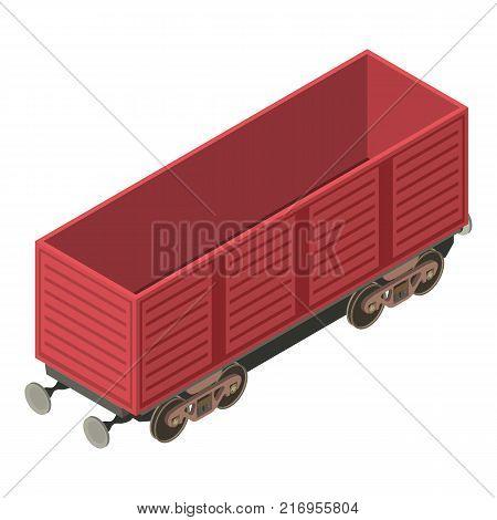 Wagon transportation icon. Isometric illustration of wagon transportation vector icon for web