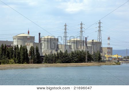 Nuclear Power Plant In Tricastin, Southern France