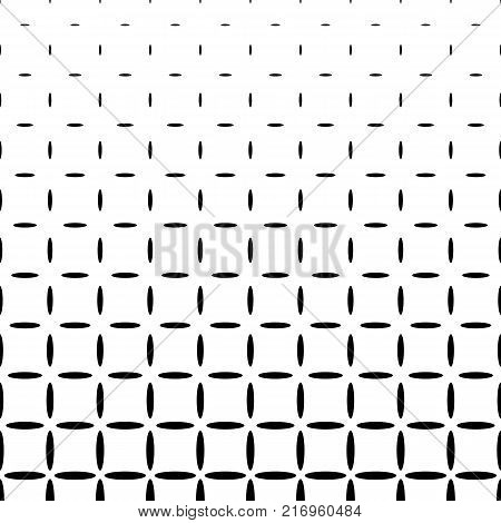 Monochrome abstract ellipse pattern background - black and white geometrical halftone vector graphic design