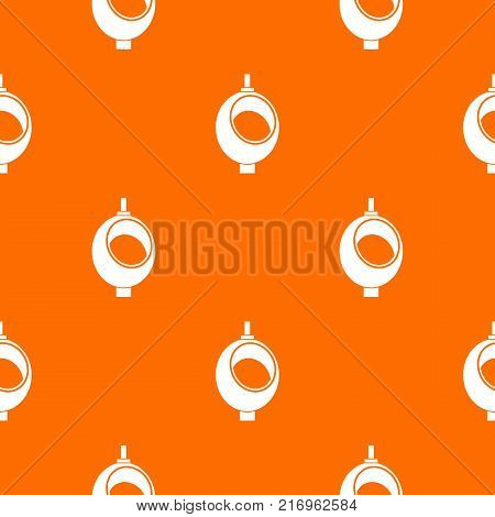 Urinal or chamber pot for men pattern repeat seamless in orange color for any design. Vector geometric illustration