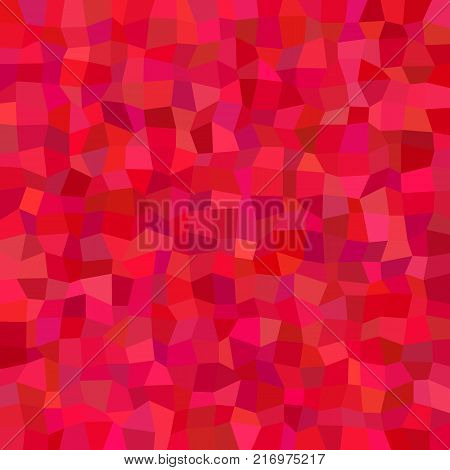 Red abstract irregular rectangle tile mosaic background - polygonal vector illustration from rectangles