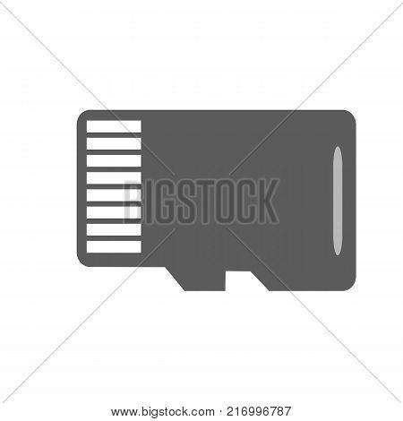 Micro SD memory card 16 GB. Vector Illustration