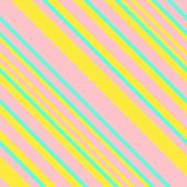 Seamless Pattern in Memphis Neon Colors, Straight Diagonal Thin Line Abstract Background, Striped Geometric Ornament, Vector Parallel Slanting, Oblique Lines Texture poster