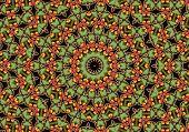 apple mandala like orient carpet poster