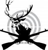 Deer hunt symbol vector illustration for web poster