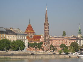 River Front In Budapest Hungary