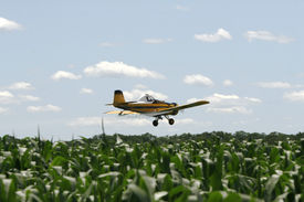 Plane spraying pesticides
