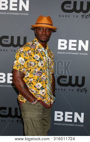 LOS ANGELES - AUG 4:  Taye Diggs at the  CW Summer TCA All-Star Party at the Beverly Hilton Hotel on August 4, 2019 in Beverly Hills, CA