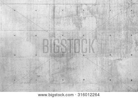 Raw Gray Concrete Beton Wall As Full Frame Background.