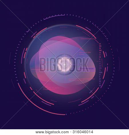 Ai Technology Concept. Futuristic Artificial Intelligence Representation. Camera Aim With Circles An