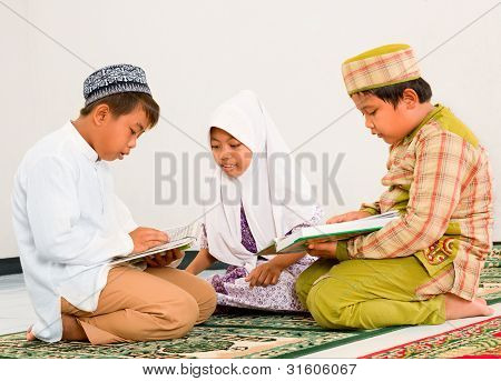 Children Reading Koran
