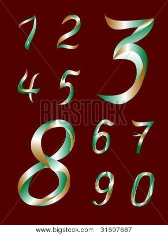 Siffrorna från 1 till 0