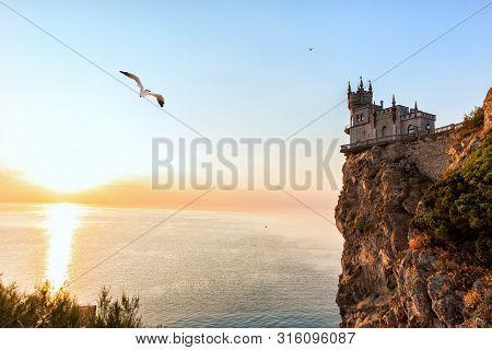 Swallow Nest Castle At Sunset, Crimea, Ukraine