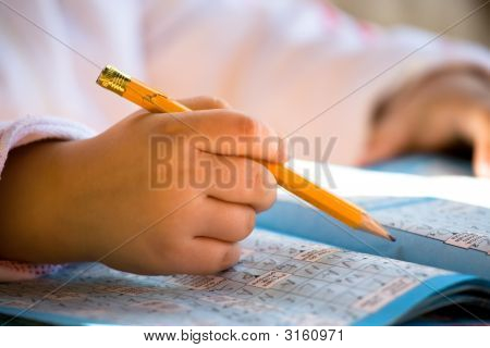 Pencil In Child Hand