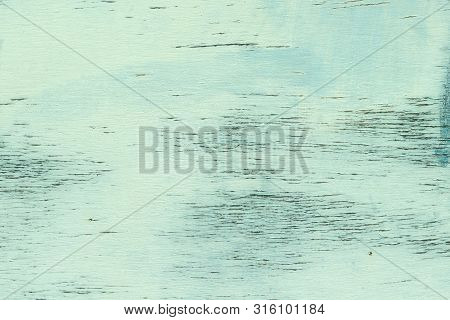 Old Weathered Wood With Peeling Faded Blue Paint