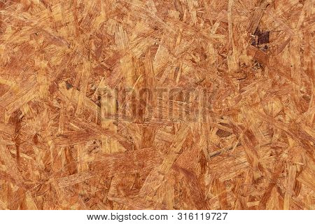 A horizontal texture of yellow chipboard for construction with knots poster