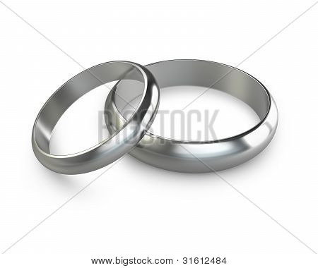 Two Platinum Wedding Rings