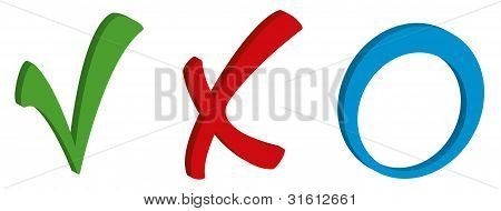 Tick Cross And Circle