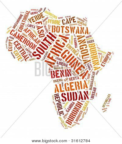 Africa continent illustration