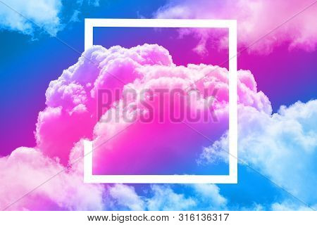 Close Up Of Sky In The White Frame
