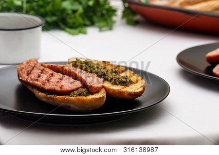Choripan, South American Style Chorizo Sandwich