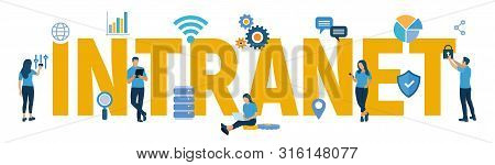 Intranet. Global Network Connection Technology. Intranet Business Corporate Communication Document M