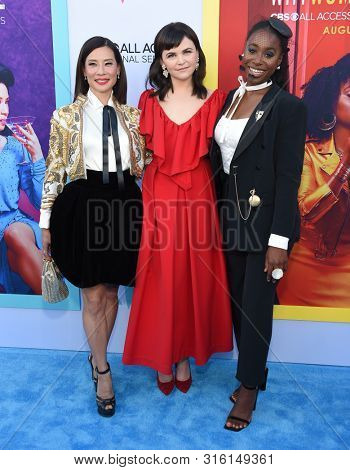 LOS ANGELES - AUG 07:  Lucy Liu, Ginnifer Goodwin and Kirby Howell-Baptiste arrives for the CBS AllAccess 'Why Women Kill' Premiere Screening on August 07, 2019 in Beverly Hills, CA