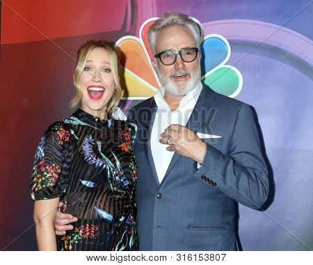 LOS ANGELES - AUG 8:  Anna Camp, Bradley Whitford at the NBC TCA Summer 2019 Press Tour at the Beverly Hilton Hotel on August 8, 2019 in Beverly Hills, CA