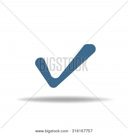 Check Mark Isolated Icon. Checklist Button Icon. Check Mark, Tick Vector Icon. Checkmark Icon Vector