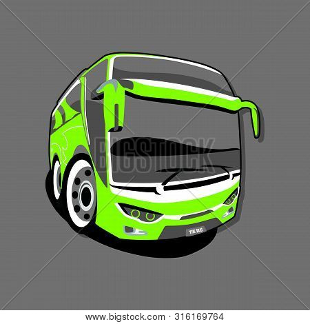 Isolated Bus Icons On Gray Background, Bus Icons With Cool Styles, Trendi Vector Bus