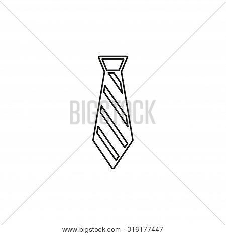 Vector Tie, Textile Apparel Fashion Isolated - Design Fashion Illustration - Cravate Symbol. Thin Li