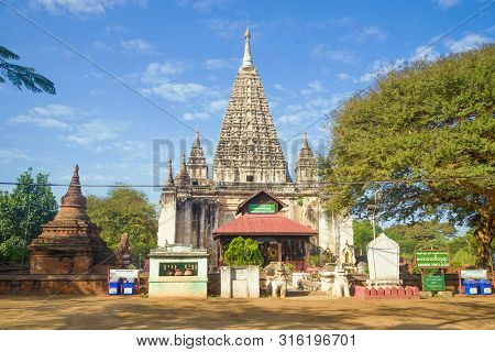 Bagan, Myanmar - December 23, 2016: Mahabodhi Temple On A Sunny Morning