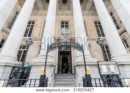 London / Uk,  August 6th 2019 - The Law Society Is The Professional Association That Represents And