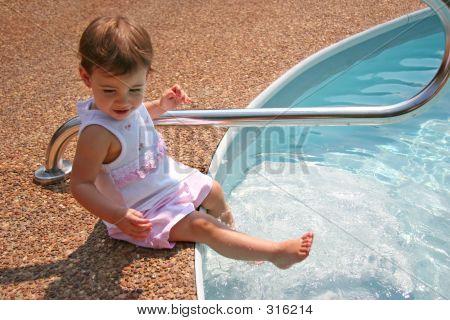 Baby Girl Splashing