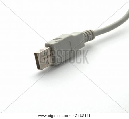 Usb Connector On A White Background